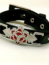Jewelry Inspired by Naruto Cosplay Anime Cosplay Accessories Bracelet Black Alloy / PU Leather Male
