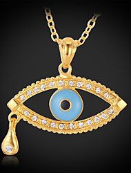 cheap -Women's Drop Gold Plated Pendant Necklace  -  Fashion Necklace For Daily