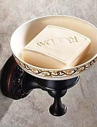 Suporte para Sabonete / Bronze Com Banho de Óleo Cerâmica /Antigo