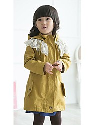 cheap -Kid's Lace Printing Jacket & Coat, Cotton Cute Screen Color