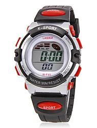 Женские Спортивные часы Модные часы электронные часы Наручные часы Кварцевый Цифровой силиконовый Группа Черный