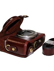economico -pelle dengpin® copertura della cassa del sacchetto della macchina fotografica protettiva con tracolla per Sony DSC-hx50v HX60 HX50 HX30 HX10 LCJ-hn