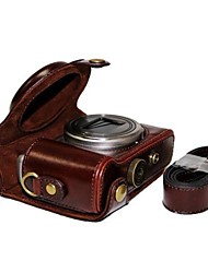 dengpin® кожаный защитный чехол для камеры сумка чехол с плечевым ремнем для Sony DSC-hx50v hx60 HX50 HX30 hx10 LCJ-HN