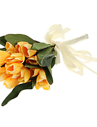 Bouquet sposa Tondo Bouquet Matrimonio Poliestere 22cm