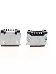 Недорогие -Micro USB 5-контактный разъем разъем разъем - серебро (5 шт Pack)