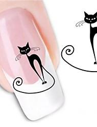 1 Nail Art naljepnica Naljepnica za prijenos vode Crtići Lijep šminka Kozmetički Nail art dizajn