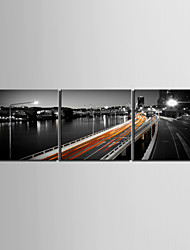 cheap -Stretched Canvas Print Art Landscape Viaduct Set of 3