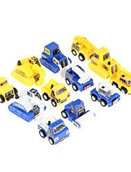 Недорогие -12шт дети весело тянуть обратно автомобиль игрушка мини строительной инженера