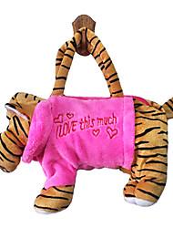 cheap -Tiger Design Plush Toys Soft Hand Bag