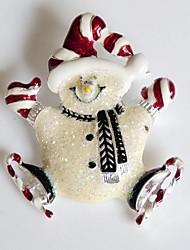 manera de la Navidad feliz del muñeco de nieve broche de la aleación