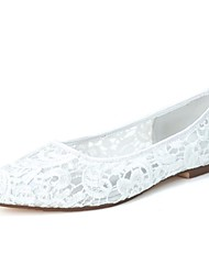 cheap -Women's Spring Summer Fall Lace Wedding Party & Evening Flat Heel Black Pink Ivory White