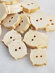 Недорогие -поросенок альбом scraft швейные DIY Деревянные кнопки (10 шт)