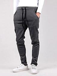 Men's Mid Rise Active Sweatpants Pants,Simple Active Slim Loose Solid