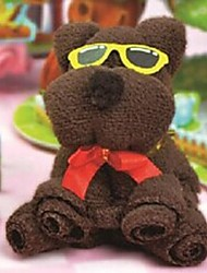 Birthday Gift Bear Shape Fiber Creative Towel (Random Color)