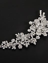 Kristal Tekstil Platinum tijare Cvijeće 1 Vjenčanje Special Occasion Zabava / večer Glava