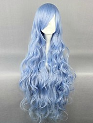 cheap -Wigs Wavy Carnival Wig Halloween Wig Blue Party