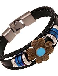 Leder Charme braceletsz&x® Vintage Punk Blume Leder Strangarmbänder