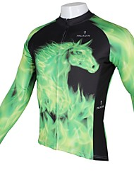 cheap -ILPALADINO Cycling Jersey Men's Long Sleeves Bike Top Bike Wear Quick Dry Ultraviolet Resistant Breathable Animal Leisure Sports Cycling