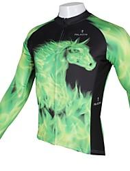 abordables -ILPALADINO Homme Manches Longues Maillot de Cyclisme Animal Vélo Séchage rapide, Résistant aux ultraviolets, Respirable