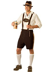 Oktoberfest Cameriere/cameriera Costumi Cosplay Vestito da Serata Elegante Uomo Halloween Oktoberfest Feste/vacanze Costumi Halloween