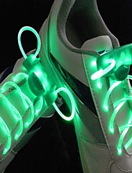 Недорогие -долго яркая вспышка медленная вспышка водонепроницаемым водить шнурков зеленый (1 пара)