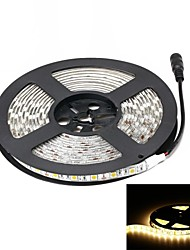 abordables -5m Bandes Lumineuses LED Flexibles 300 LED 5050 SMD Blanc Chaud Imperméable 12 V / IP65