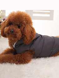 Dog Coat Hoodie Vest Puffer / Down Jacket Dog Clothes Winter Warm Breathable Keep Warm Sport Solid Black Costume For Pets