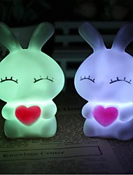cheap -Coway Love Mi Rabbits Colorful LED Nightlight Lamp High Quality