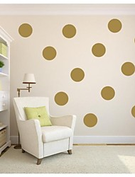 jiubai® polka dot oro pared pared calcomanía etiqueta, 18cm / punto, 10dots / set