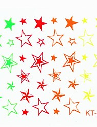 economico -Fluorescence Star False Nail Art Sticker Decals Nail Accessory for Acrylic Nail Tips DIY Nail Art Decorations