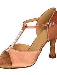 latin kvinders sandaler Stiletto Heel satin spænde dansesko (flere farver)