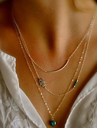 shixin® lega gemma dell'annata piccolo ciondolo collana (oro) (1 pc)