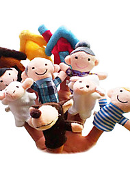 cheap -Sheep Toys Finger Puppets Puppets Cartoon Textile Plush Cute Lovely Novelty Girls' Boys' Gift