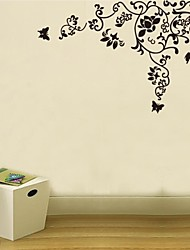 parete decalcomanie autoadesivi della parete, fiore striscia arredamento casa adesivi murali murale manifesto