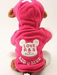 Cani Felpe con cappuccio Rosso Nero Abbigliamento per cani Inverno Primavera/Autunno Cartoni animati Divertente Casual