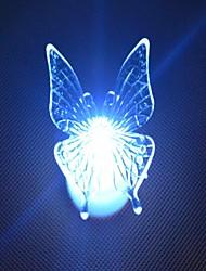 Недорогие -привело изменение цвета прозрачный в форме бабочки, мини свет Рождественские реквизит