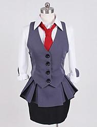 preiswerte -Inspiriert von Tokyo Ghoul Kirishima Touka Anime Cosplay Kostüme Cosplay Kostüme Patchwork Weste Hemd Top Rock Kragen Für Damen