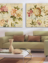 Canvas Set Florals Modern,Two Panels Canvas Horizontal Print Wall Decor For Home Decoration