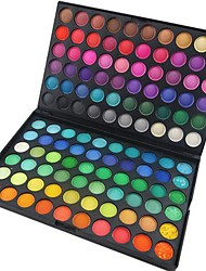 preiswerte -120 Lidschattenpalette Trocken / Matt / Schimmer Lidschatten-Palette Puder Normal Party Make-up