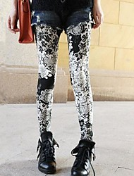 cheap -Women's Others Thin Print Legging Screen Color