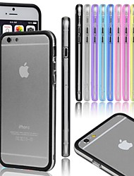 VORMOR® Gel Transparent Bumper Metal Button Case for iPhone 5/5S