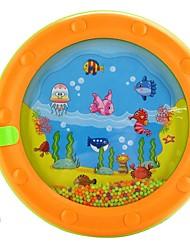 Недорогие -высокое качество красочные мультфильм морские волны барабан ребенок кольцо колокола игрушки развивающие игрушки имеют ножку