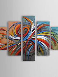 cheap -Hand-Painted Abstract Any Shape, Modern Traditional Oil Painting Home Decoration Five Panels