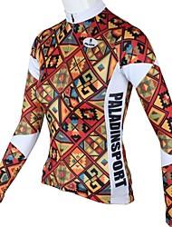 baratos -ILPALADINO Mulheres Manga Longa Camisa para Ciclismo - Vermelho Floral / Botânico Moto Camisa/Roupas Para Esporte, Secagem Rápida,