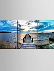 Landscape Classic Traditional,Three Panels Vertical Print Wall Decor For Home Decoration