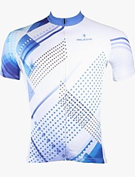 cheap -ILPALADINO Cycling Jersey Men's Short Sleeves Bike Jersey Top Bike Wear Quick Dry Ultraviolet Resistant Breathable Polka Dots Leisure