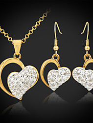 cheap -Women's Jewelry Set Drop Earrings Pendant Necklaces Unique Design Love Elegant Wedding Party Birthday Engagement Gift Daily Crystal