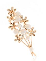 economico -Per donna Fiore decorativo Perle finte Spille - Di tendenza Oro Spilla Per Quotidiano