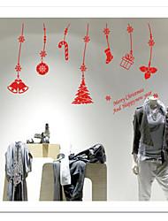 zooyoo® niedliche bunte PVC abnehmbare Weihnachtsanhänger Bild von Wandaufkleber heißer Verkauf Wandtattoos für Wohnkultur