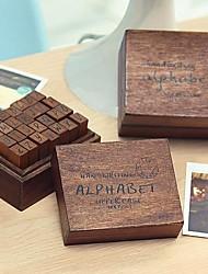 les timbres lettres majuscules motif vintage ensemble (28 pcs / set)